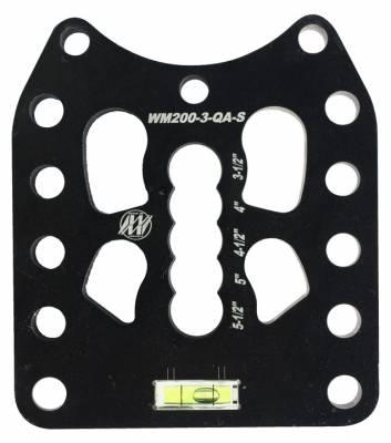 "Steering & Suspension - Wehrs Machine - Wehrs Machine WM200-3-QA-S 3/4"" Hole Quick Adjust Straight Slot Shock Plate"
