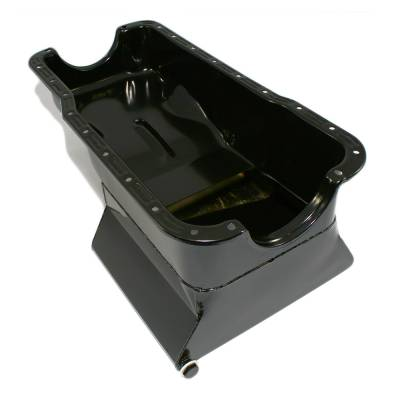 1965-1987 SBF Ford 7qt Front Sump Black Drag Race Oil Pan - Small Block 351W