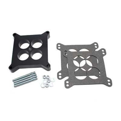 """Carburetor Spacers, Studs & Gaskets - Carb Adapters & Spacers - Assault Racing Products - Phenolic 1"""" 4 Hole 4bbl Square Bore Holley Carburetor Spacer + W/ Hardware"""