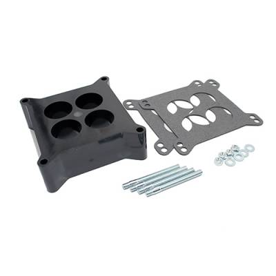 """Carburetor Spacers, Studs & Gaskets - Carb Adapters & Spacers - Assault Racing Products - Phenolic 2"""" 4 Hole Square Bore Carburetor Spacer Adapter Holley w/ Hardware"""