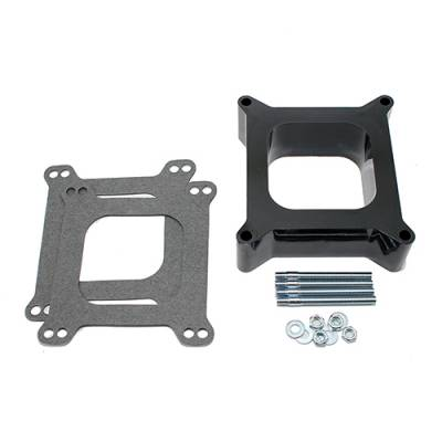 """Carburetor Spacers, Studs & Gaskets - Carb Adapters & Spacers - Assault Racing Products - Phenolic 2"""" Open Hole Square Bore Carburetor Spacer Adaptor W/ Hardware"""