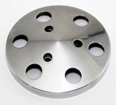 Cooling - Pulleys, Belts & Kits - Assault Racing Products - Polished Aluminum Sanden 508 Style A/C Air Compressor Clutch Cover Faceplate