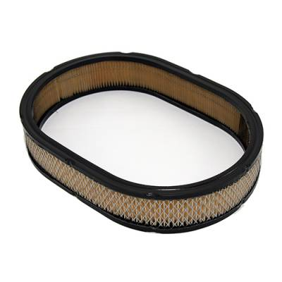 """Air Filters & Cold Air Intakes - Air Cleaner Assemblies & Accessories - Assault Racing Products - SBC BBC 12"""" Oval Air Cleaner Filter Chevy Ford Mopar Replacement Filter"""