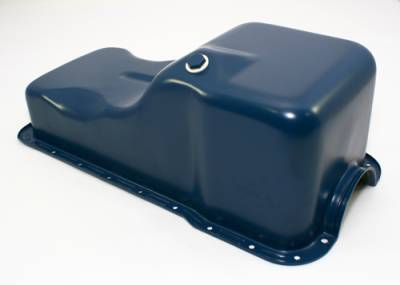 Oil Pans - Street Oil Pans - Assault Racing Products - SBF Ford 302 Front Sump Oil Pan Dark Blue - Small Block Windsor 260 289 5.0