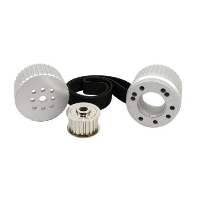 Cooling - Pulleys, Belts & Kits - Assault Racing Products - SBF Small Block Ford Billet Aluminum Gilmer Belt Drive Pulley Kit 289 302 351W