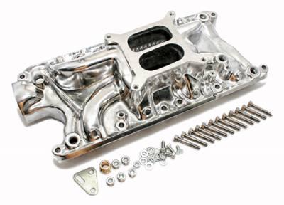 Small Block 289 302 347 FORD Polished Aluminum Intake Manifold Dual Plane
