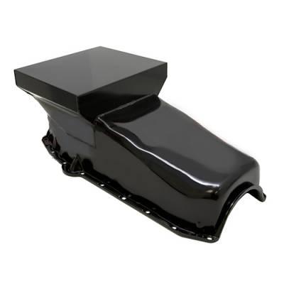 Small Block Chevy 1958-79 327 350 400 SBC Black Drag Race Style 7qt. Oil Pan