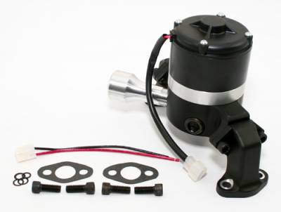 Cooling - Water Pumps - Assault Racing Products - Small Block Chevy 350 Electric High Volume Water Pump Powdercoated Black