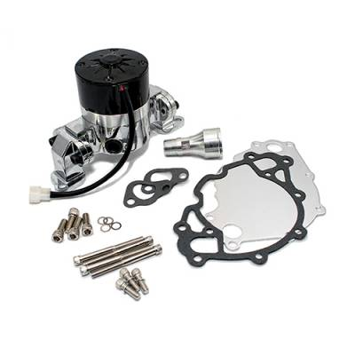 Cooling - Water Pumps - Assault Racing Products - Small Block Ford Chrome High Volume Performance Electric Water Pump SBF 289 302