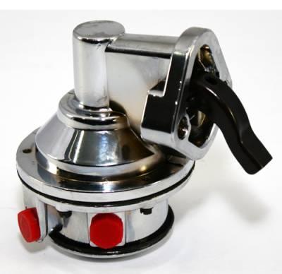 Fuel System & Components - Mechanical Fuel Pumps - KMJ Performance Parts - SBC Chevy High Volume Replacement Chrome Mechanical Fuel Pump 305 350 400