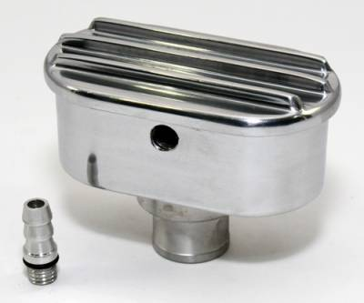 Assault Racing Products - Retro Finned Polished Aluminum PCV Valve Cover Breather Push In with Raised Fins - Image 2