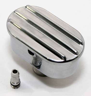 Assault Racing Products - Retro Finned Polished Aluminum PCV Valve Cover Breather Push In with Raised Fins - Image 3