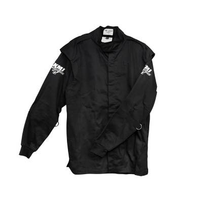 Velocita - Velocita SJ5 Large Black Single Layer Pro Logo Fire Suit Jacket SFI 3.2A/1 Rated