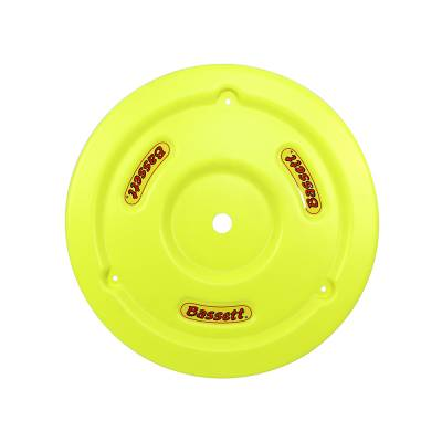Bassett Wheel - Bassett 5PLG-FLOYEL Fluorescent Yellow Plastic Wheel Cover (Mud Plug) IMCA USRA