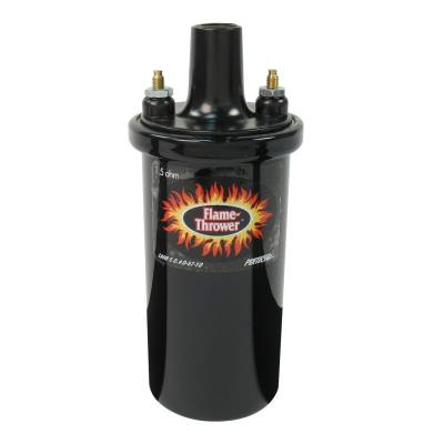 Ignition & Electrical - Ignition Coils - Pertronix Performance Products - PerTronix 40011 Flame-Thrower Ignition Coil Oil Filled 1.5 Ω Ohm 40k Volt Black