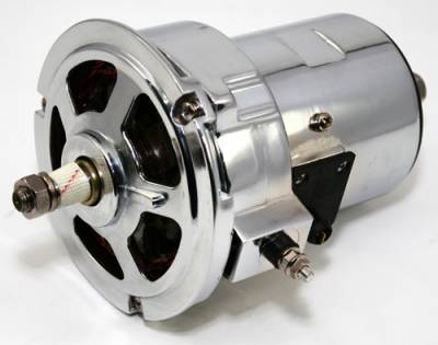 KMJ Performance Parts - 1.6L VW Beetle 55 Amp Chrome Alternator Type 2 Mini Bus Sand Rail Volkswagen Bug