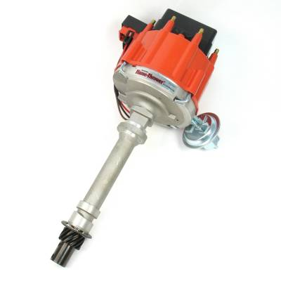 Distributors & Components - Distributors - Pertronix Performance Products - Flame-Thrower Street Strip HEI Cast Distributor Chevy 350 400 396 454 Red Cap
