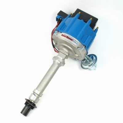 Distributors & Components - Distributors - Pertronix Performance Products - Flame-Thrower Street Strip HEI Cast Distributor Chevy 350 400 396 454 Blue Cap