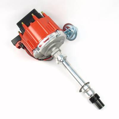 Distributors & Components - Distributors - Pertronix Performance Products - Flame-Thrower Street Strip HEI Distributor Chevy 350 400 396 454 Red Male Cap