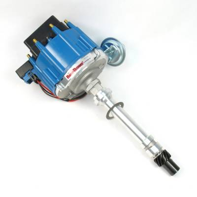 Distributors & Components - Distributors - Pertronix Performance Products - Flame-Thrower Street Strip HEI Distributor Chevy 350 400 396 454 Blue Male Cap
