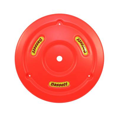 Circle Track - Wheel Covers & Rings - Bassett Wheel - Bassett 5PLG-FLORED Fluorescent Red Plastic Wheel Cover (Mud Plug) IMCA USRA UMP