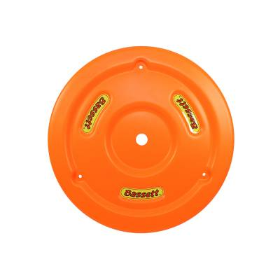 Bassett Wheel - Bassett 5PLG-FLOORG Fluorescent Orange Plastic Wheel Cover (Mud Plug) IMCA USRA
