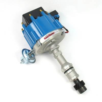 Distributors & Components - Distributors - Pertronix Performance Products - Flame-Thrower D1102 Street Strip HEI Distributor Olds 307 350 455 Blue Male Cap