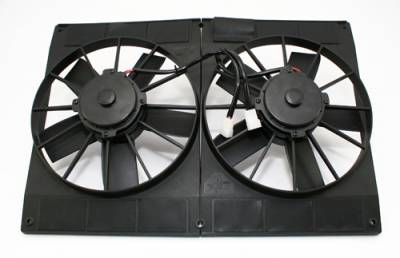 "Cooling - Electric Fans & Components - KMJ Performance Parts - Dual 11""; Electric Radiator Twin Cooling Fans with Shroud Extreme Cooling 2870CFM"
