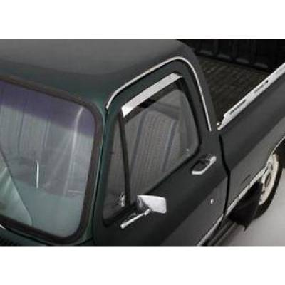 Auto Ventshade - AVS 12031 Ventshade Deflector - 2Pc Stainless 1972-1993 Dodge Ramcharger