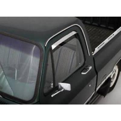 SUV Accessories - Auto Ventshade - AVS 12059 Ventshade - 2Pc Stainless 1973-1991 GMC Chevy Blazer C/K Pickups