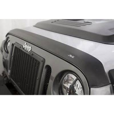 Jeep Accessories - Auto Ventshade - AVS 377060 Aeroskin Matte Black Hood Shield 2007-2018 Jeep Wrangler JK