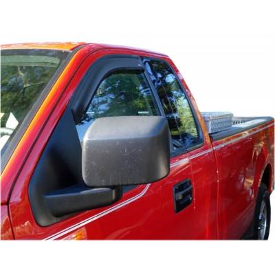 Jeep Accessories - Auto Ventshade - AVS 92328 Tape-On Window Ventvisors 2-Piece Front ONLY 2007-2018 Jeep Wrangler JK