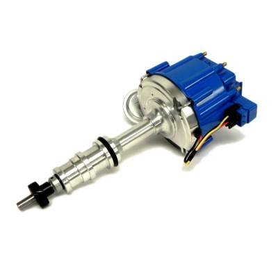 Distributors & Components - Distributors - Assault Racing Products - Ford BBF FE V8 65K One Wire HEI Distributor 352 360 390 406 427 428 Blue Cap