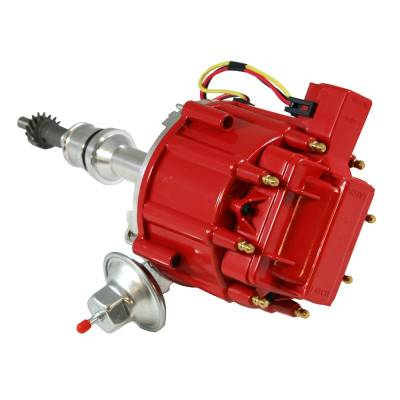 Distributors & Components - Distributors - Assault Racing Products - Ford 351C 351M 400 429 460 HEI Distributor 65 000 Volt Coil 7500 RPM Module Red