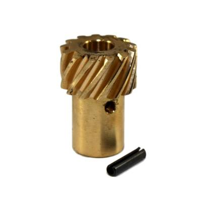 Distributors & Components - Distributor Gears, Shafts, Hold Downs & Components - Assault Racing Products - SBC Small and Big Block Chevy Roller Cam Bronze Distributor Gear HEI .491 Shafts