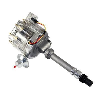 Chevy 350 454 HEI Distributor 65K Volt Coil HP Module Clear Cap w/ Tach Drive