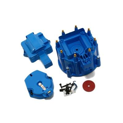 Distributors & Components - Distributor Cap & Rotor - Assault Racing Products - Chevy/GM HEI Blue Distributor Cap Rotor Kit SBC 350 400 BBC 454 Chevy Ford Mopar
