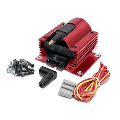 Ignition & Electrical - Ignition Coils - Assault Racing Products - Assault Racing Anodized RED 50KV Low 0.35 OHM Resistance Ignition Super Coil