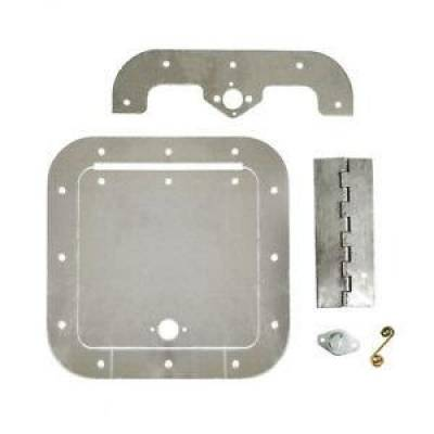 Steering & Suspension - Chassis Fabrication Tabs & Brackets - Assault Racing Products - Universal Polished Aluminum 6X6 Access Door Fuel Circle Track Hot Rod IMCA USMTS