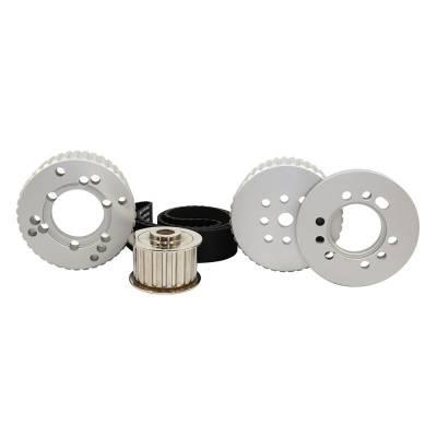 Cooling - Pulleys, Belts & Kits - Assault Racing Products - SBM Small Block Mopar Billet Aluminum Gilmer Belt Drive Pulley Kit 318 340 360