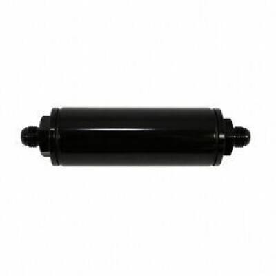 "Fuel System & Components - Fuel Filters - Assault Racing Products - ARC 4708BK Black Billet Aluminum In Line Race Fuel Filter 6"" x 2"" 8AN IMCA USRA"
