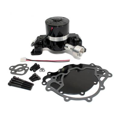 Cooling - Water Pumps - Assault Racing Products - Small Block Ford 289 302 Electric High Volume Water Pump Billet Aluminum Black