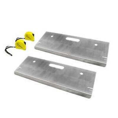 Tools, Shop & Pit Equipment - Pit Equipment - Assault Racing Products - ARC 82015 Aluminum Toe Plates with Tape Measures IMCA USRA NASCAR Off Road