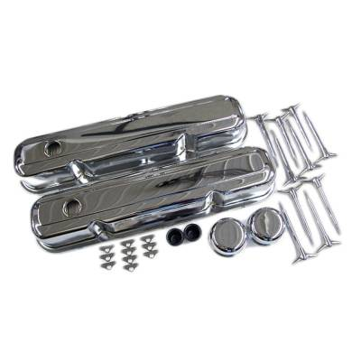 Valve Covers & Accessories - Valve Covers - Assault Racing Products - Small Block Mopar 318 360 Chrome Valve Cover Kit - Dodge Plymouth 273 340 LA