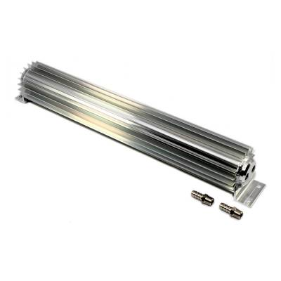 """Transmission & Drivetrain - Transmission Oil Cooler's & Components - Assault Racing Products - 15"""" Finned Aluminum Double Pass Transmission Trans Cooler - In-line Universal"""