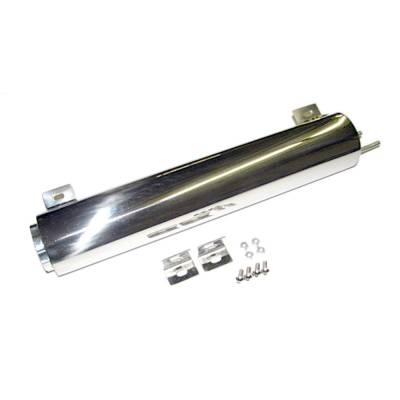 Cooling - Overflow & Recovery Tanks - Assault Racing Products - Polished Stainless Steel Radiator Water Coolant Catch Can Overflow Tank 44 oz