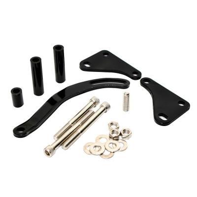 Steering - Power Steering Pumps & Accessories - Assault Racing Products - SBC Saginaw Power Steering Bracket EDP Black Steel Chevy Small Block W/ Hardware