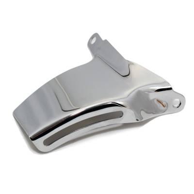 Alternators and Brackets - Brackets and Accessories  - Assault Racing Products - SBC Small Block Chevy 350 400 Chrome Alternator Bracket 69-75 Long Water Pump