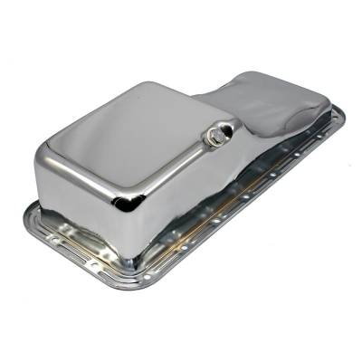 Oil Pans - Street Oil Pans - Assault Racing Products - Ford FE Big Block Chrome Oil Pan Front Sump - Stock Capacity 352 390 406 427 428