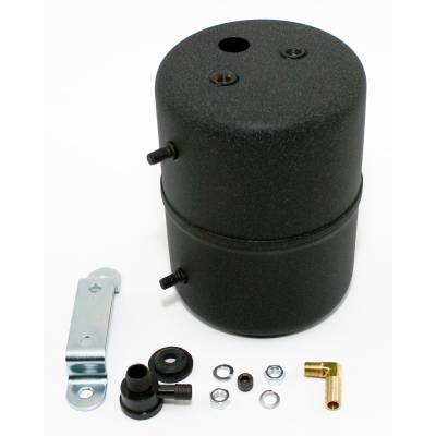 Brakes - Brake Accessories - Assault Racing Products - Black Vacuum Reservoir Power Brake Booster Canister w/ Check Valve and Hardware